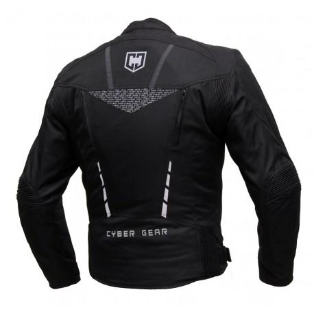 Pánská textilní bunda Cyber Gear Strada černá - 6XL