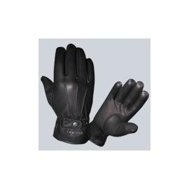 Kožené moto rukavice KORE GS-01, černé