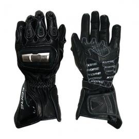 Kožené moto rukavice Kore Madison, černé