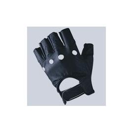 Kožené moto rukavice Kore Bezprsté, černé