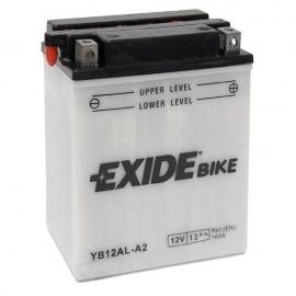 Baterie EXIDE EB12AL-A2, 12V 12Ah, za sucha nabitá s antisulfační úpravou. Náplň součástí balen