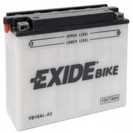 Baterie EXIDE EB16AL-A2, 12V 16Ah, za sucha nabitá s antisulfační úpravou. Náplň součástí balen