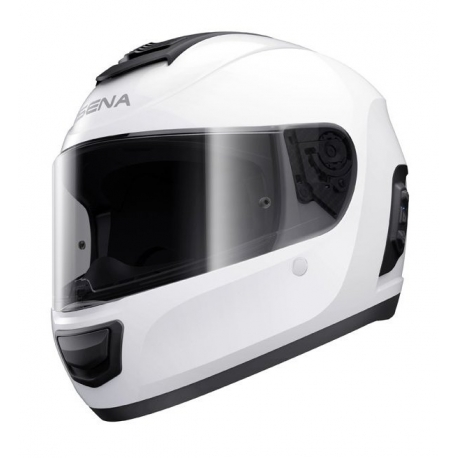 Momentum, Dual Bluetooth Helmet, Full Face, Glossy White, L