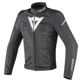 Pánská moto bunda Dainese HYPER FLUX D-DRY černá/bílá, textilní
