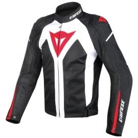 Pánská moto bunda Dainese HYPER FLUX D-DRY bílá/černá/červená, textilní