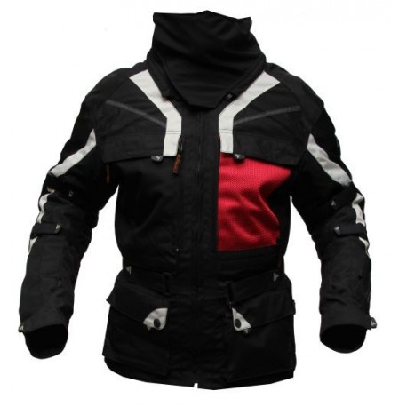 Pánská textilní moto bunda Spark Adventure, černá