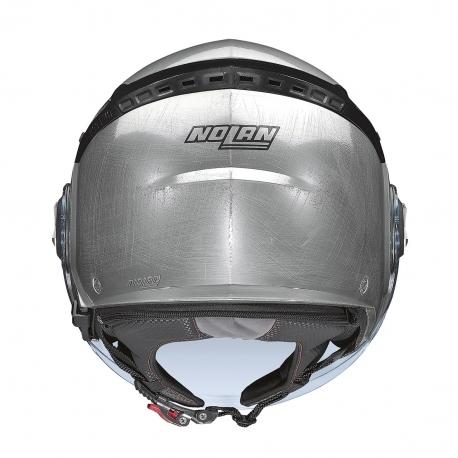 Moto helma Nolan N33 EVO Classic N-Com Scratched Chrome 6