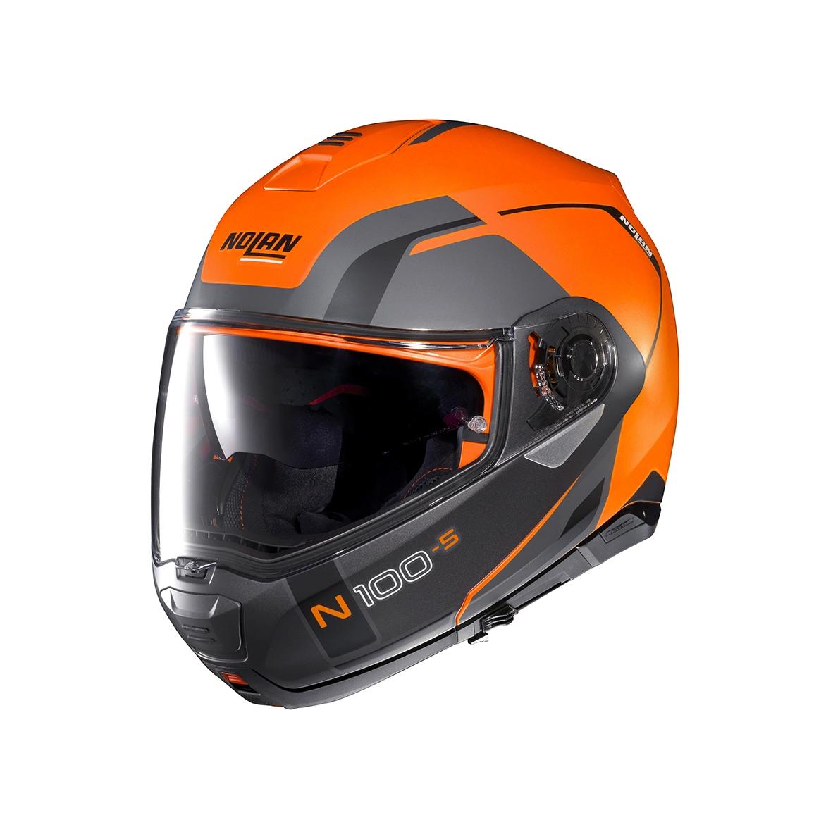 Moto helma Nolan N100-5 Consistency N-Com Flat Led Orange 27