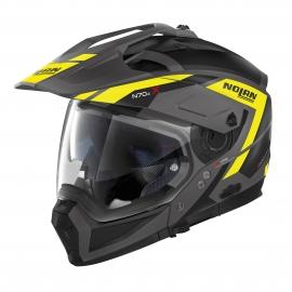 Moto helma Nolan N70-2 X Grandes Alpes N-Com Flat Lava Grey 23