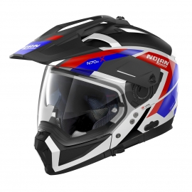 Moto helma Nolan N70-2 X Grandes Alpes N-Com Metal White26