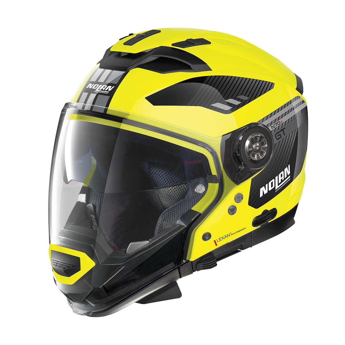 Moto helma Nolan N70-2 GT Bellavista N-Com Led Yellow 26