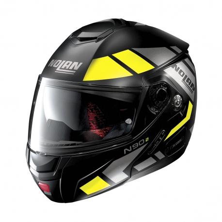 Moto helma Nolan N90-2 Euclid N-Com Flat Black 27