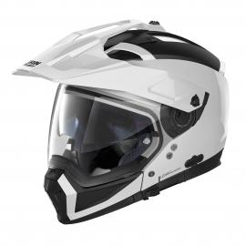 Moto helma Nolan N70-2 X Classic N-Com Metal White 5