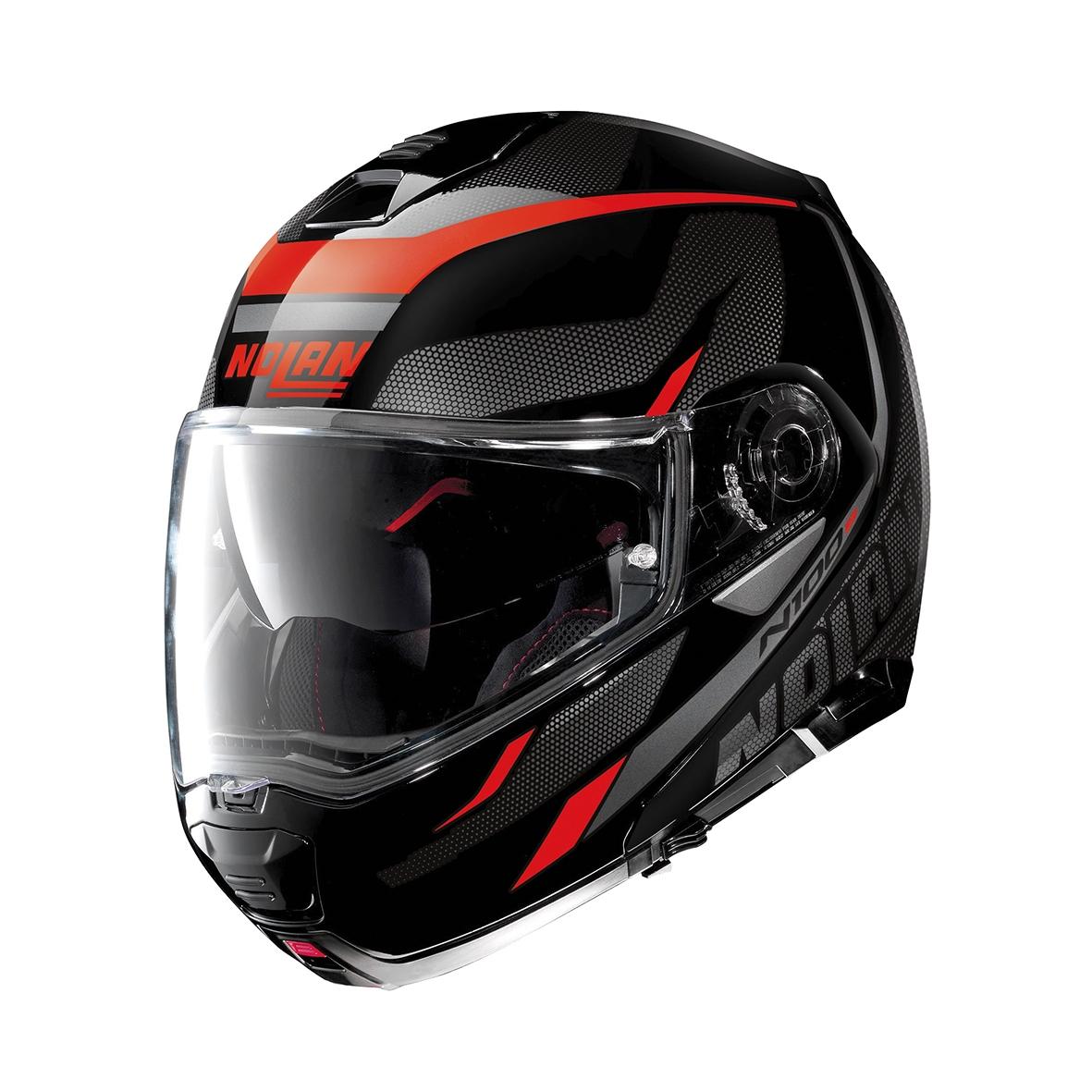 Moto helma Nolan N100-5 Lumiére N-Com Glossy Black 39