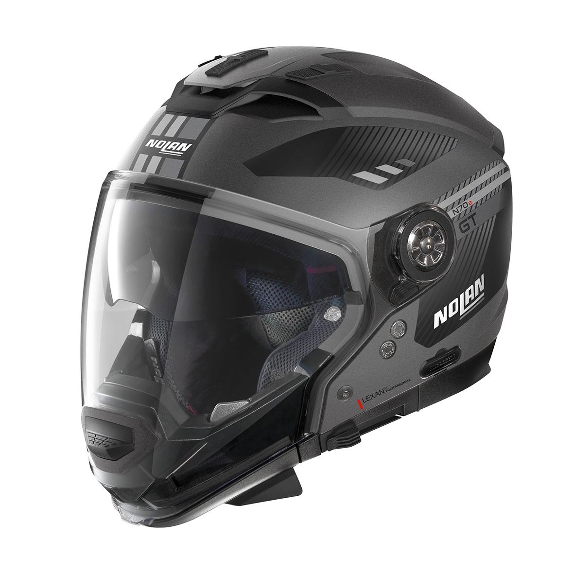 Moto helma Nolan N70-2 GT Bellavista N-Com Flat Lava Grey 21