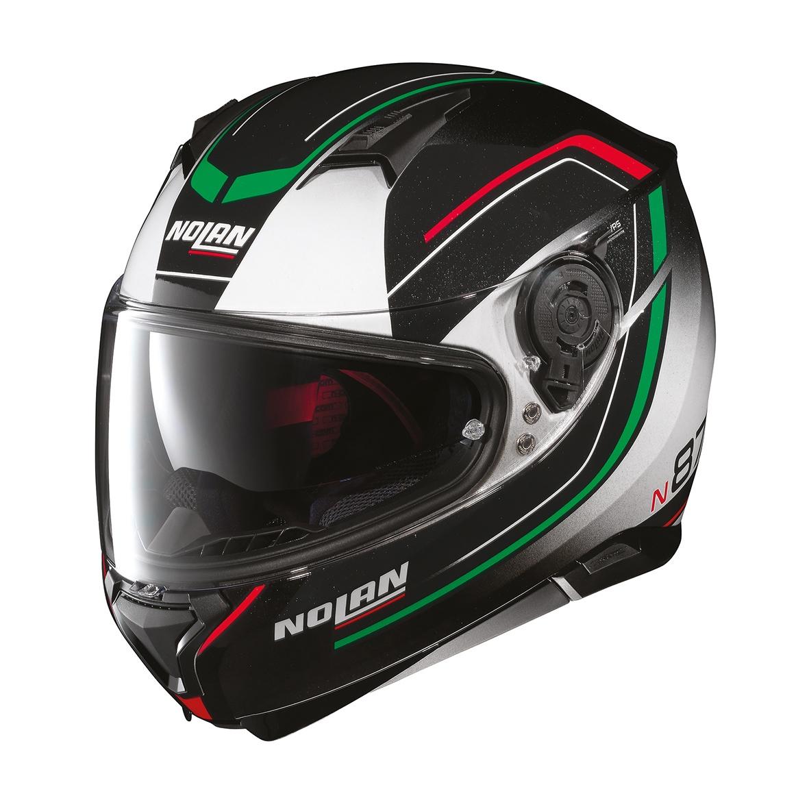 Moto helma Nolan N87 Savoir Faire N-Com Fade White 56