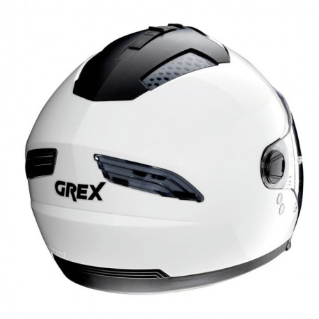 Moto helma Grex G4.2 PRO Kinetic N-Com Metal White 4