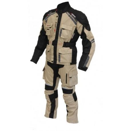 Pánské textilní Moto kalhoty Spark Dakar, pískovo-černé