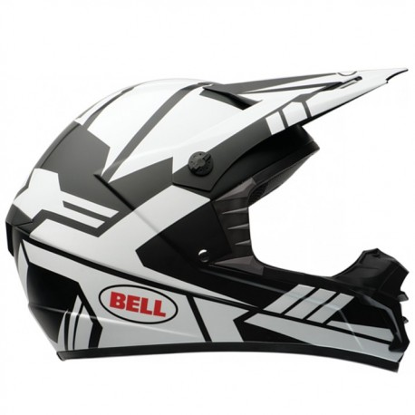 Moto helma Bell SX-1 Stack Matte White