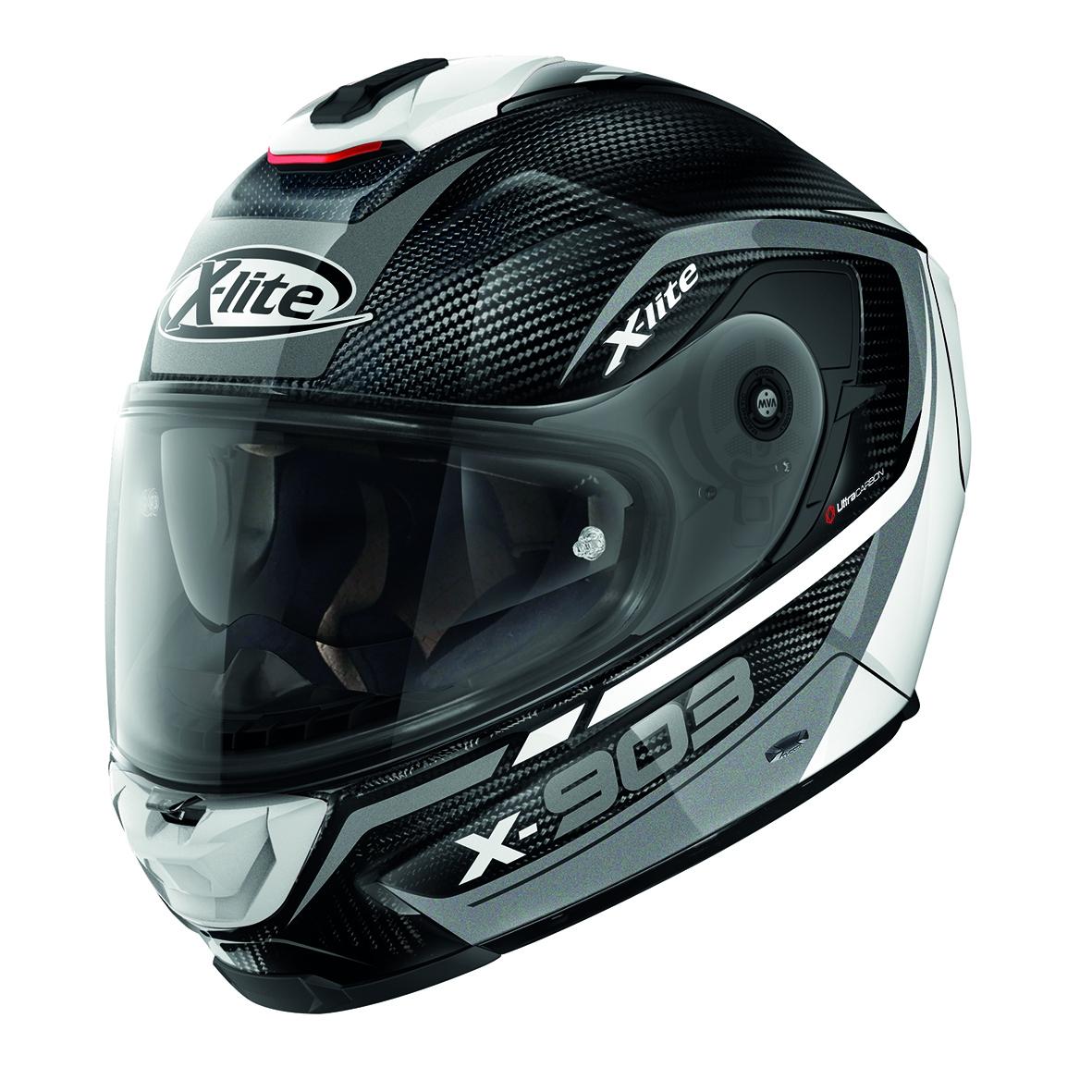 Moto helma X-Lite X-903 Ultra Carbon Cavalcade N-Com Carbon 11