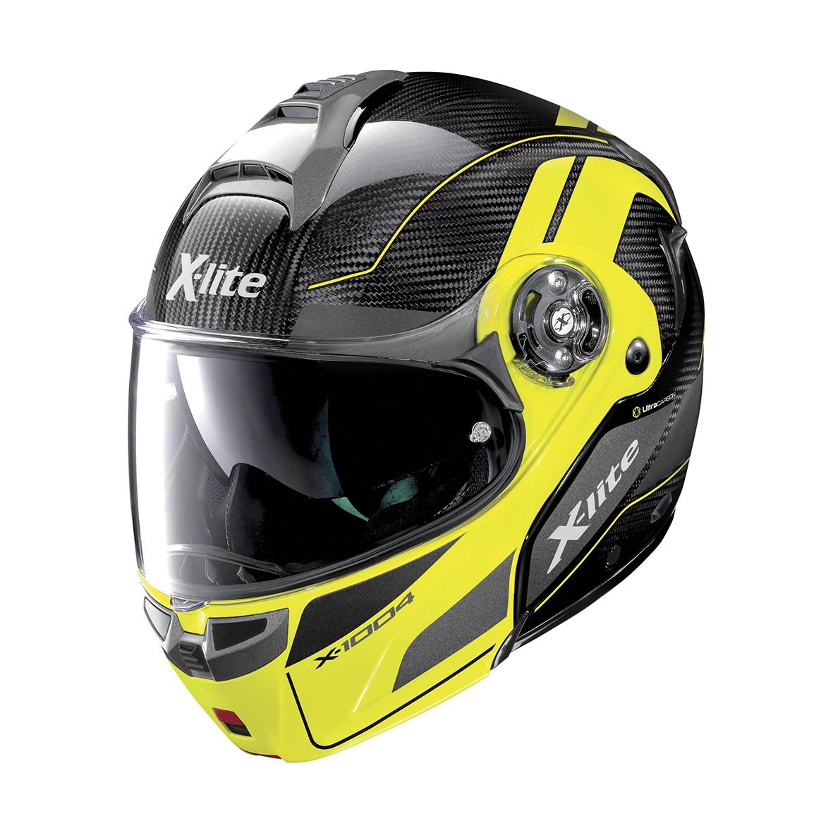 Moto helma X-Lite X-1004 Ultra Carbon Charismatic N-Com Led Yellow Chin Guard 14