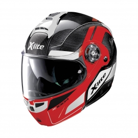 Moto helma X-Lite X-1004 Ultra Carbon Charismatic N-Com Corsa Red Chin Guard 15