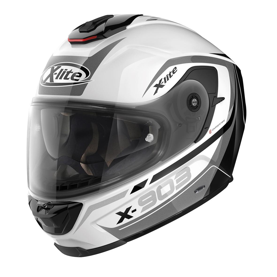 Moto helma X-Lite X-903 Cavalcade N-Com Glossy White 21