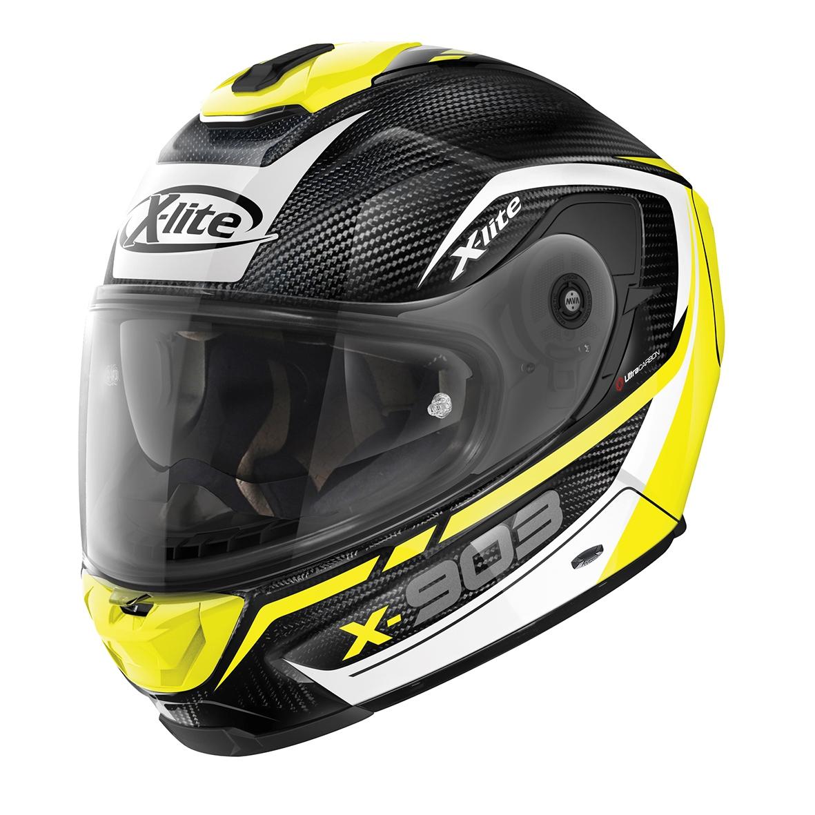 Moto helma X-Lite X-903 Ultra Carbon Cavalcade N-Com Flat Black 12