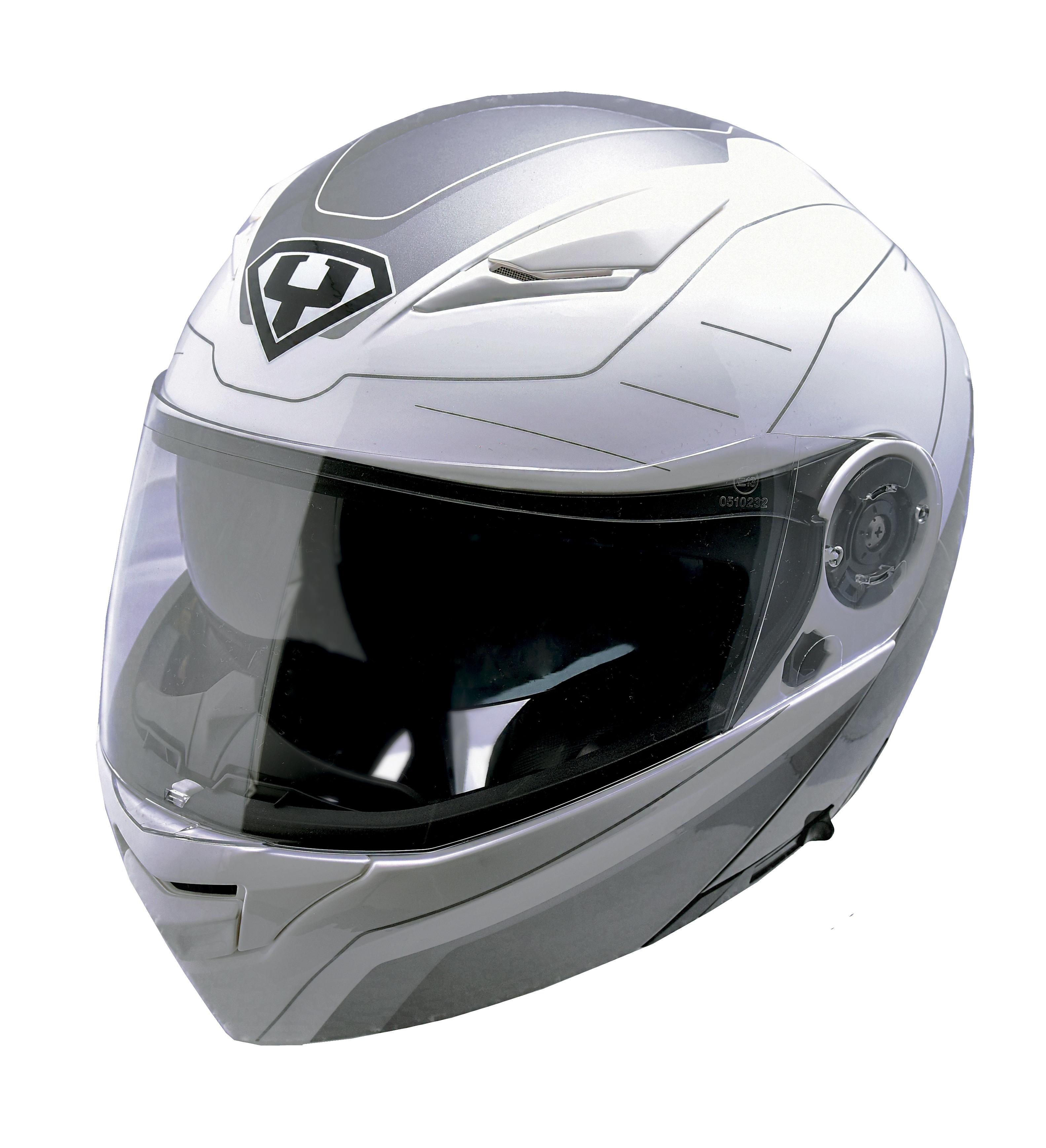 Moto helma Yohe 950-16 bílá / šedá