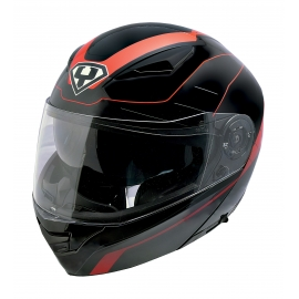 Moto helma Yohe 950-16, Black, Red