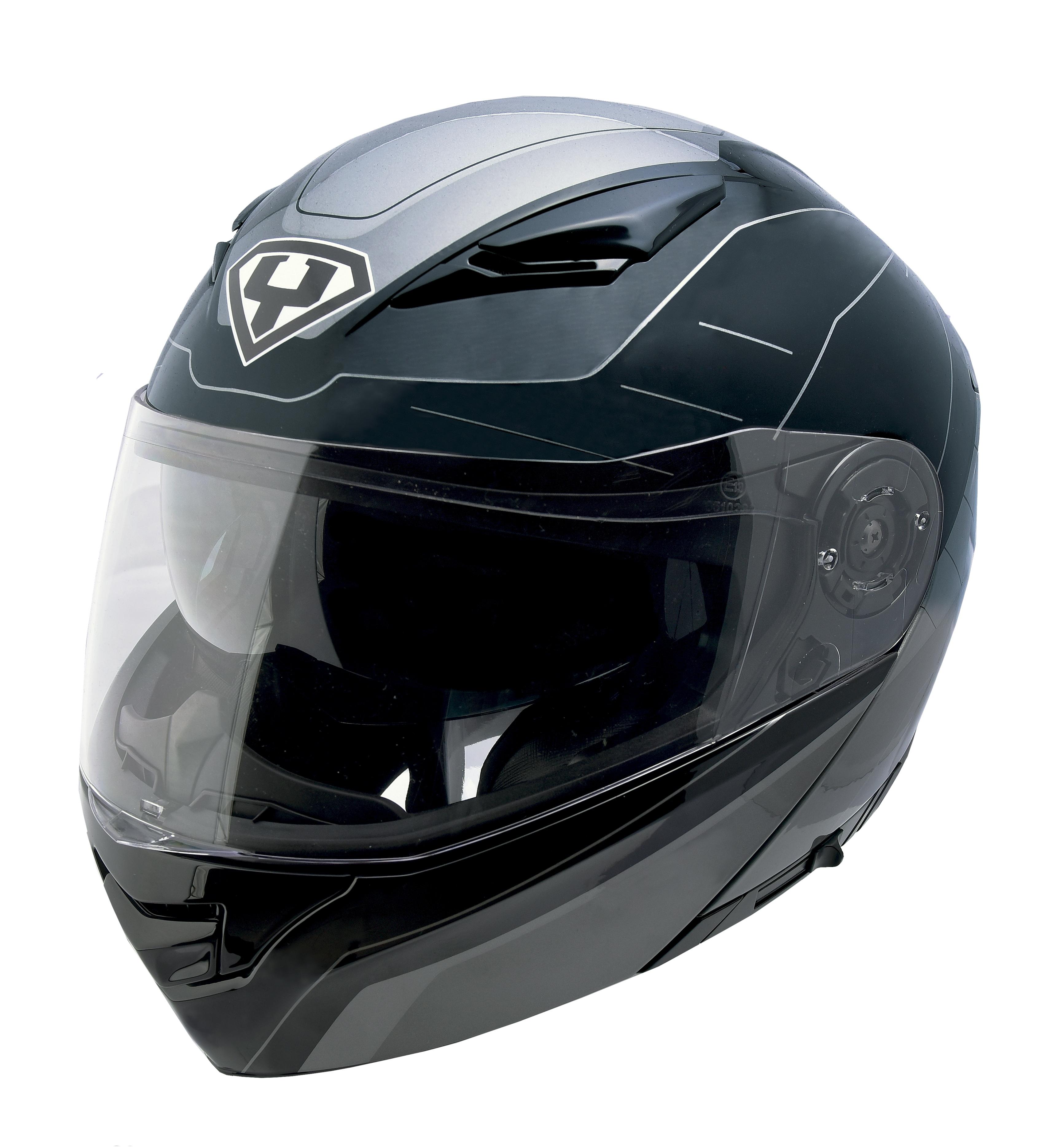 Moto helma Yohe 950-16 černá / šedá