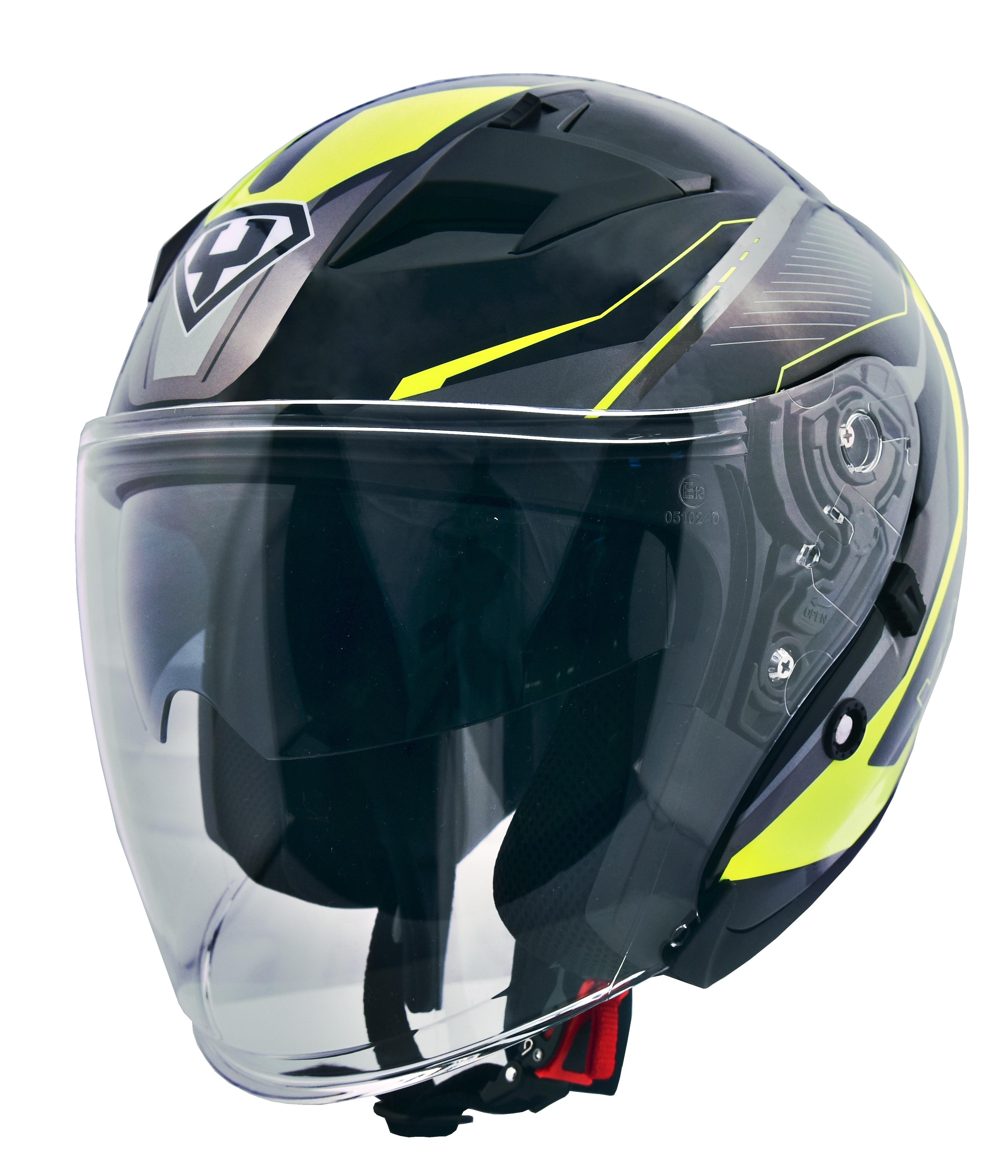 Moto helma Yohe 878-1 Fluo