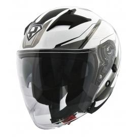 Moto helma Yohe 878-1M Graphic, White