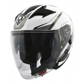 Moto helma Yohe 878-1M Graphic, White