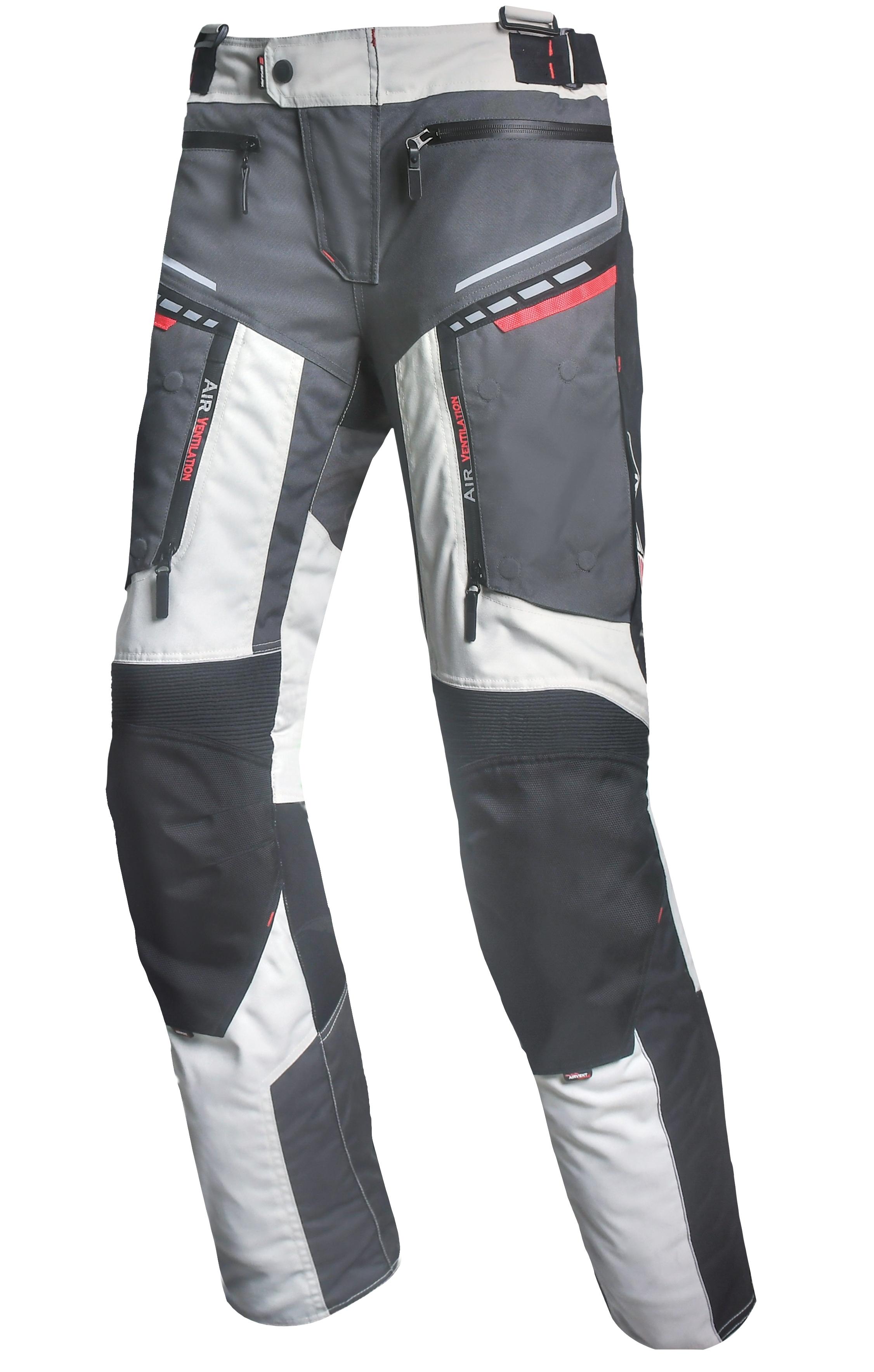 Pánské textilní moto kalhoty Spark Avenger, šedé