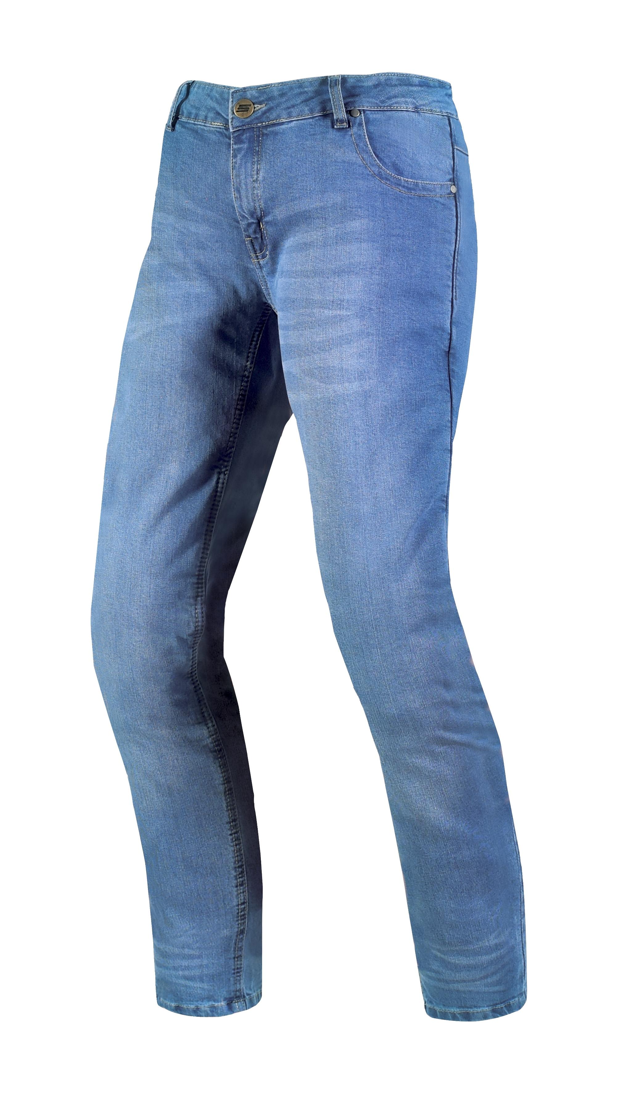 Dámské džínové moto kalhoty SPARK DAFNE, modré