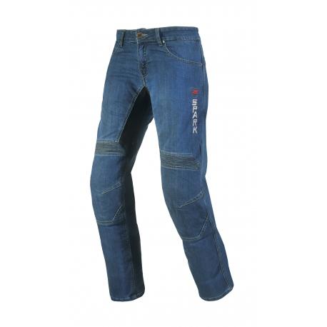 Pánské textilní moto jeansy Spark Danken, modré