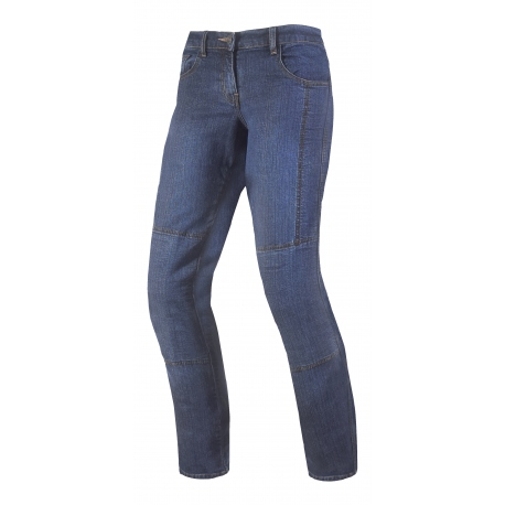 Dámské textilní moto kevlar jeansy Spark Desert Rose, modré