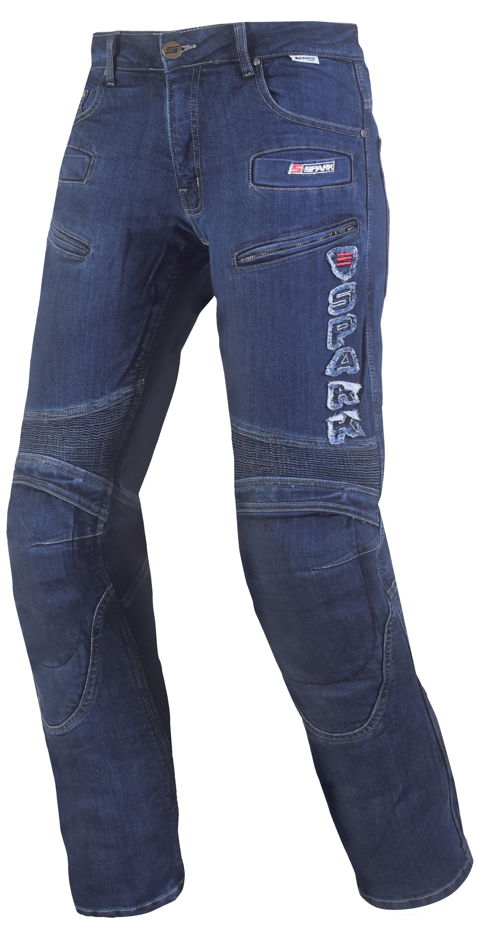 Pánské džínové moto kalhoty SPARK HAWK, modré