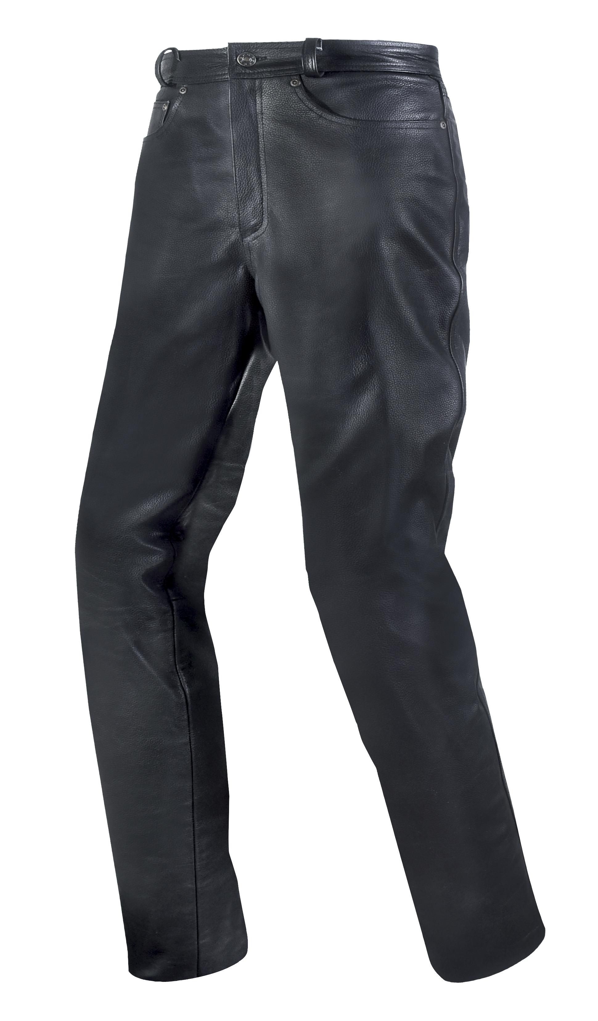 Pánské kožené moto kalhoty SPARK LEATHER JEANS, černé matné