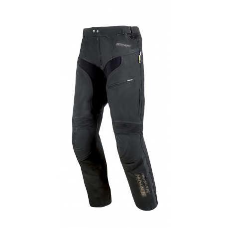 Pánské kožené moto kalhoty Spark Mike, černé