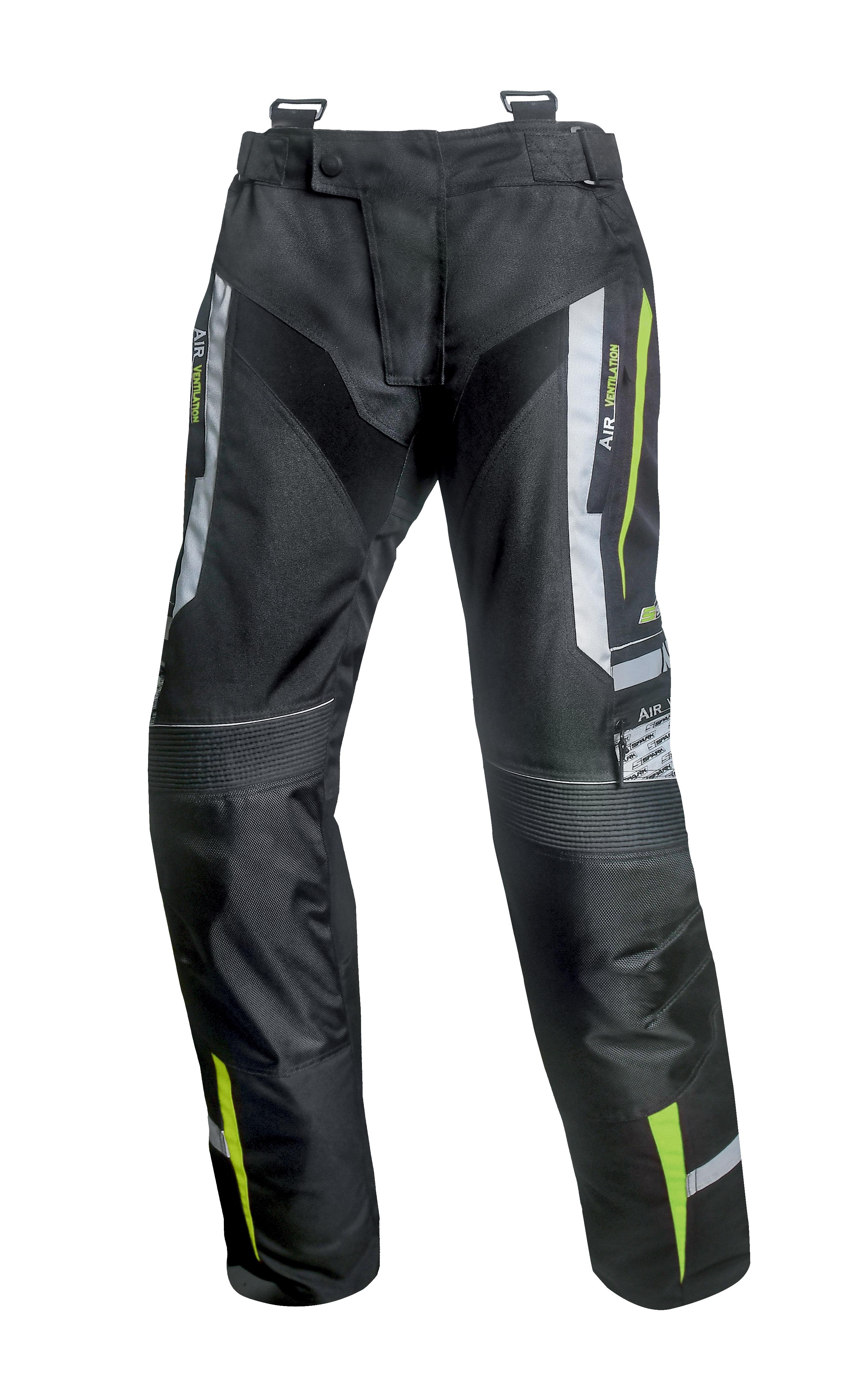 Pánské textilní moto kalhoty SPARK MIZZEN, Fluo