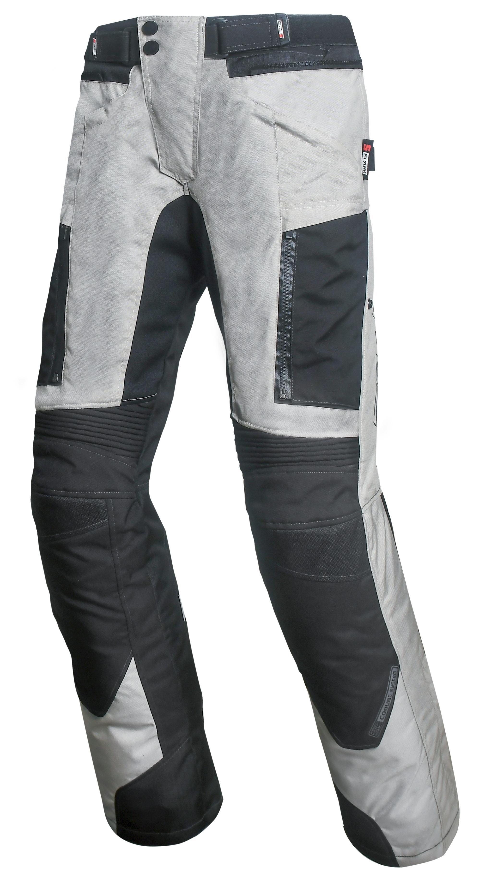 Pánské textilní moto kalhoty SPARK NAUTIC, bílé