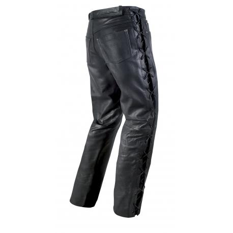 Pánské kožené moto kalhoty Spark Texas, šněrovací matné černé