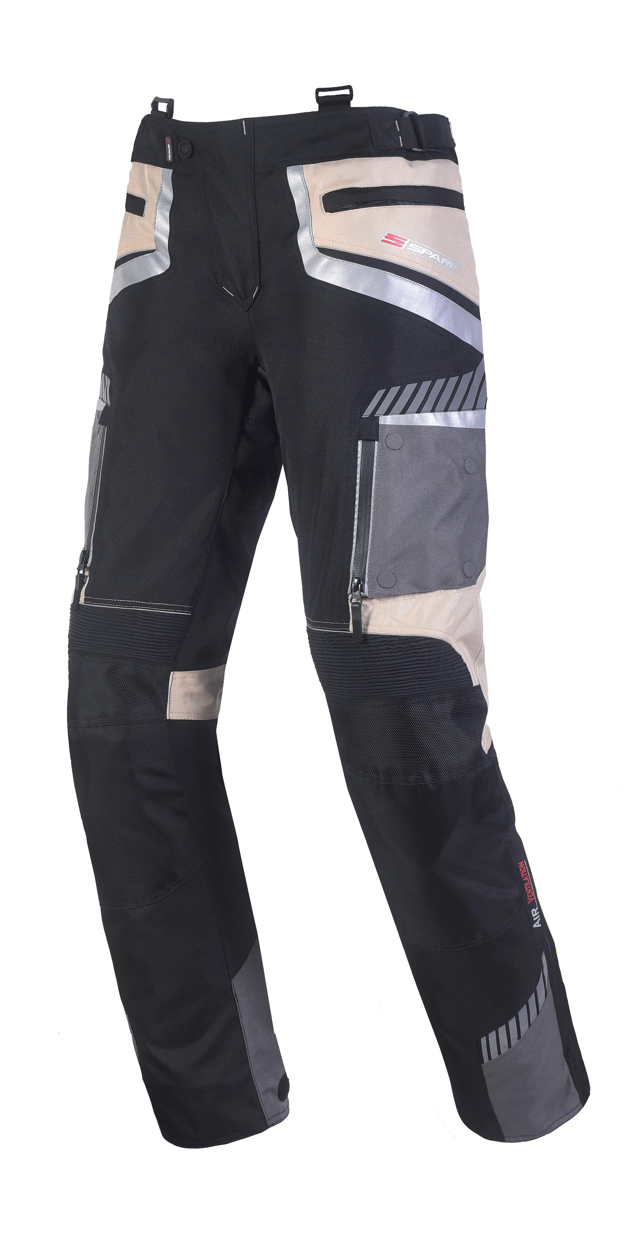 Pánské textilní moto kalhoty SPARK ROADRUNNER, béžová