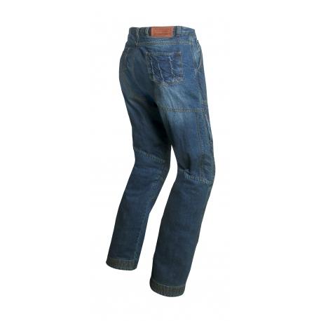 Pánské textilní moto kevlar jeansy Spark Track, modré