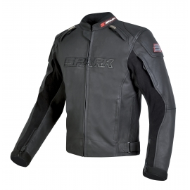 Pánská kožená moto bunda Spark Motostar, černá