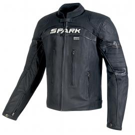 Pánská kožená moto bunda Spark Dark, černá