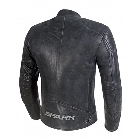 Pánská kožená moto bunda Spark Hector, černá