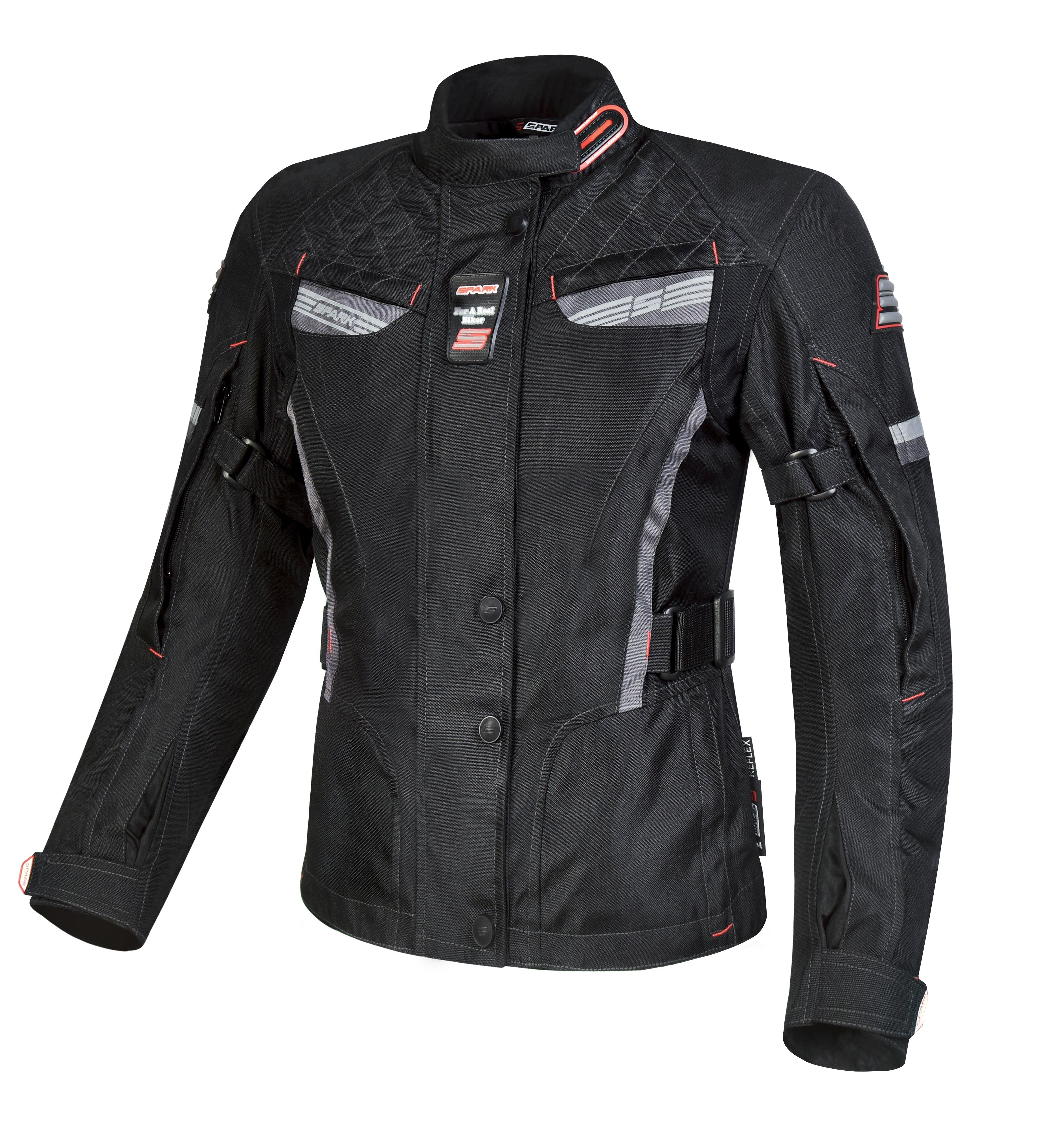 Dámská textilní moto bunda SPARK TRINITY, černá